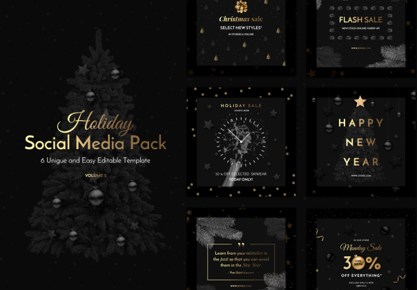 Holiday Social Media Pack Vol.2