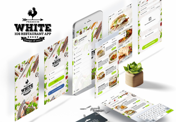 Premium White iOS Restaurant