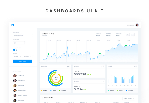 40 Web Dashboard UI Kit