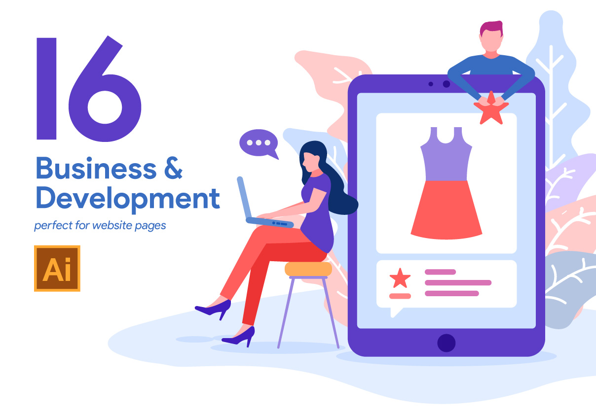 16 Business and Development Illustration