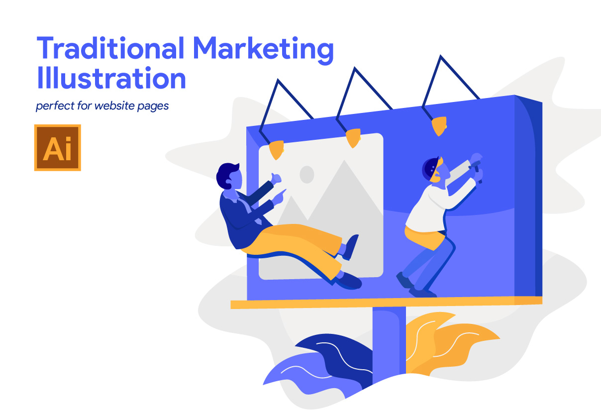 5 Traditional Marketing Illustration